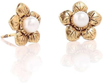 GoldNera Golden Flower Alloy Stud Earring GoldNera Earrings