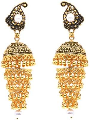 GoldNera Golden Disk Brass Jhumki Earring GoldNera Earrings