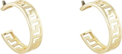 Savvy Circle of Life Brass Hoop Earring at flipkart