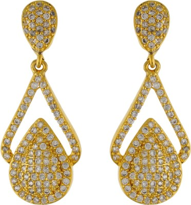 Aarushi Ethinc Cubic Zirconia Alloy Drops   Danglers Aarushi Earrings
