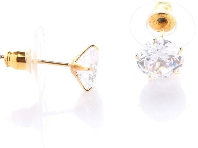 GoldNera 0.50 Carat Solitaire Alloy Stud Earring GoldNera Earrings