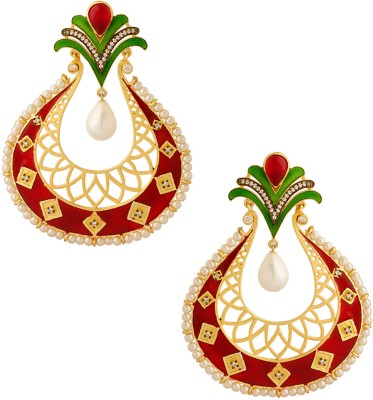 Voylla Pearl Alloy Dangle Earring at flipkart