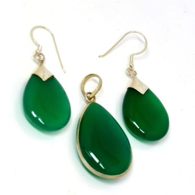 Manirathnum Green Onyx Gemstone 925 Sterling Silver Earring Jewelry Onyx Brass Dangle Earring  available at flipkart for Rs.2088