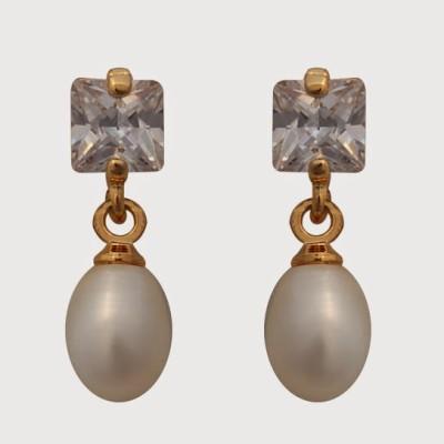 Nisa Pearls Pearl Alloy Drops   Danglers Nisa Pearls Earrings