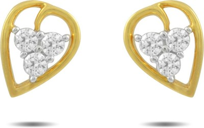 P.N.Gadgil Jewellers Classic Shine Yellow Gold 18kt Diamond Stud Earring(Yellow Gold Plated) at flipkart