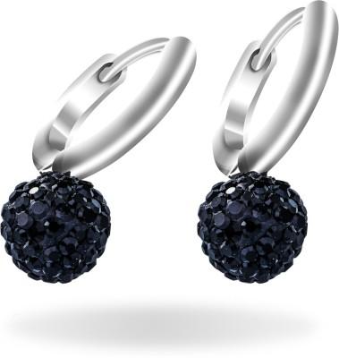 Mahi Dangling Beauty Rhodium Bali Swarovski Crystal Alloy Drop Earring at flipkart