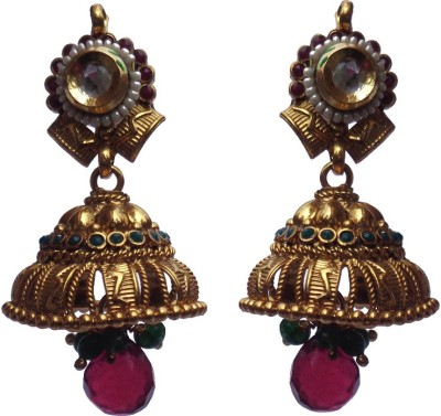 Kundaan Polki Ghumki Crystal Alloy, Copper Jhumki Earring at flipkart