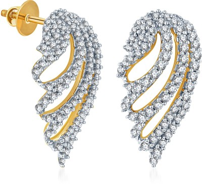 KaratCraft Yellow Gold 18kt Stud Earring at flipkart