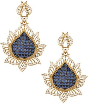 Jewels Kafe Designer Copper Drop Earring at flipkart