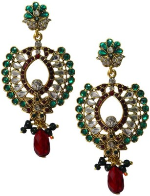 Being Women Elegant Gold Plated Kundan Studded Fashion Alloy Drop Earring at flipkart