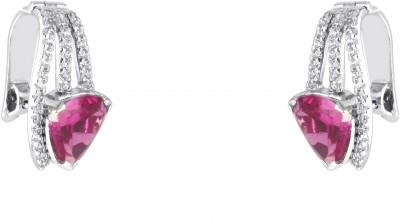 Phoenix Designer Swarovski Crystal Sterling Silver Huggie Earring at flipkart