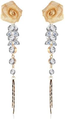 Jewels Galaxy Luxuria Series Cubic Zirconia Alloy Drops   Danglers Jewels Galaxy Earrings