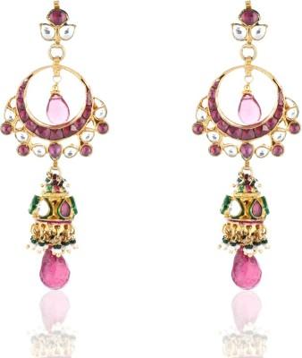 Aaishwarya Styled Kundan Stone Crystal Alloy Jhumki Earring at flipkart