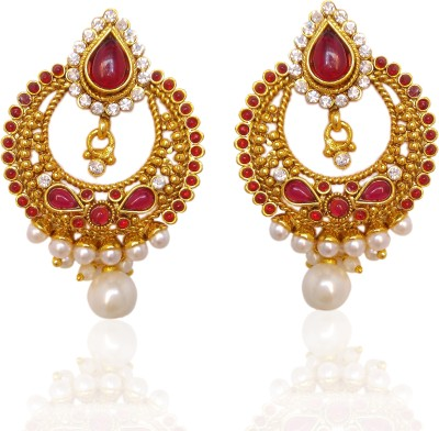 Chandrika Pearls Ramleela Inspired Cubic Zirconia Copper Chandbali Earring  available at flipkart for Rs.461