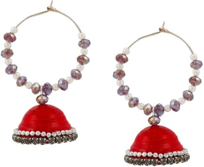 Halowishes Elegant Look with Clip-on Earring Hancrafted Baali Jhumka Paper Clip-on Earring  available at flipkart for Rs.289