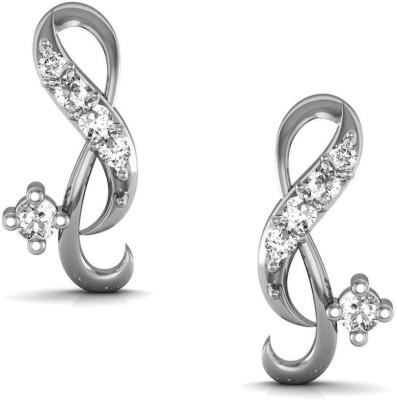 Avsar Karnataka Yellow Gold 14kt Swarovski Crystal Stud Earring