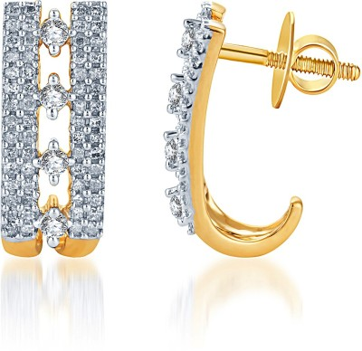 KaratCraft Yellow Gold 18kt Hoop Earring at flipkart