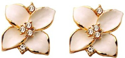 Kundaan Petal Flower Crystal Alloy Stud Earring at flipkart