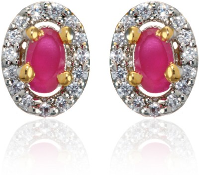 Dhruvi Creation By Zaveri Pearls Cubic Zirconia Brass Stud Earring at flipkart