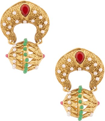 Voylla Artificial Classic Textured Alloy Drop Earring at flipkart