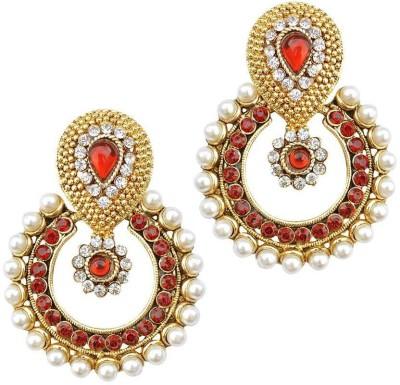 JEWELS GURU Zircon Alloy Chandbali Earring JEWELS GURU Earrings