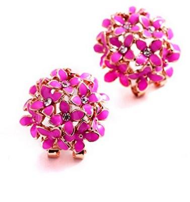 Jewels Galaxy Luxuria Cubic Zirconia Alloy Clip on Earring