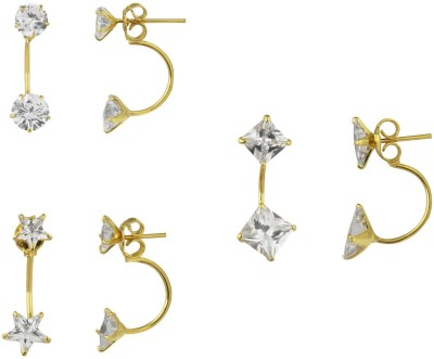Parijaat Style Diva Cubic Zirconia Alloy Earring Set Parijaat Earrings