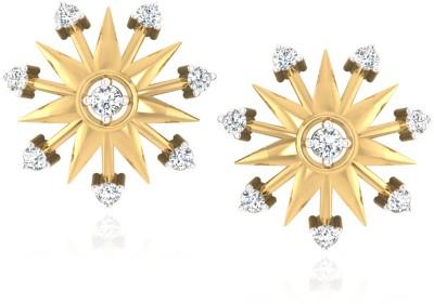 IskiUski Yana Earrings Yellow Gold 14kt Swarovski Crystal Stud Earring