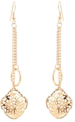 GoldNera Mugal Cutwork Alloy Tassel Earring GoldNera Earrings