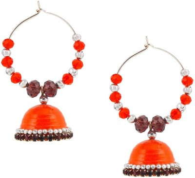 Halowishes Elegant Royal Look Baali Hancrafted Jhumka Paper Clip-on Earring  available at flipkart for Rs.289