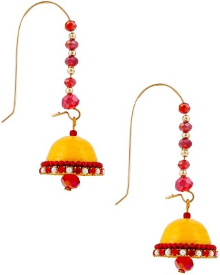 Halowishes Traditional Hancrafted Kidney Hook Jhumka Paper Hoop Earring  available at flipkart for Rs.279