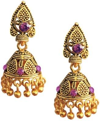 Being Women Pink Stone Traditional Ethinic Alloy Jhumki Earring Being Women Earrings