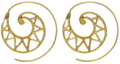 IMLI STREET Golden Fashion Party Wear Brass Hoop Earring IMLI STREET Earrings