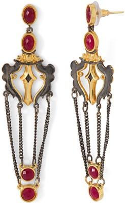 Studio Voylla Precious Classic Plain Crystal Sterling Silver Dangle Earring at flipkart