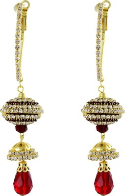 Sewad Artificial Gold Colored Hoop With Jumki (BID1151B) Zircon Copper Jhumki Earring at flipkart