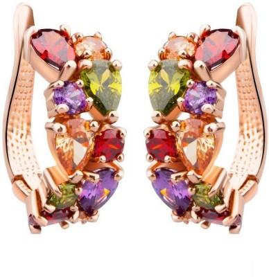 Shimmer Divine Luxuria Cubic Zirconia Alloy Hoop Earring Shimmer Divine Earrings