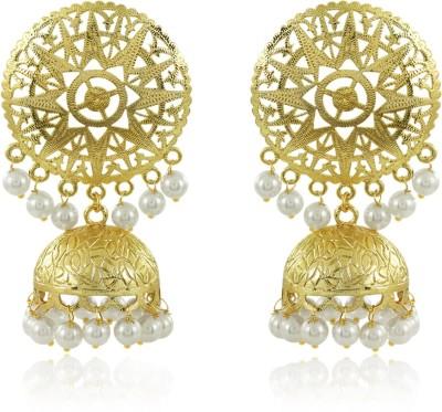 Spargz Roya Look Jhumki Earring Pearl Brass Jhumki Earring at flipkart