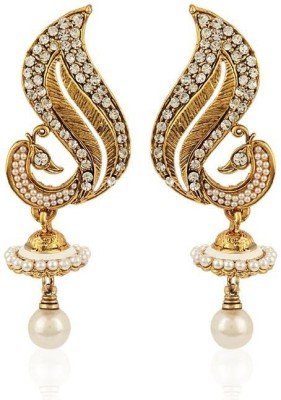 Styylo Fashion Peacock Design Zircon Alloy Jhumki Earring at flipkart