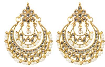 Jewels Gehna Cubic Zirconia Alloy Chandbali Earring at flipkart