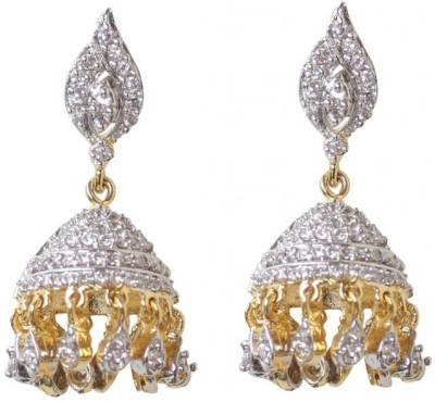 Rajwada Arts Trendy with American Diamonds Brass Jhumki Earring at flipkart