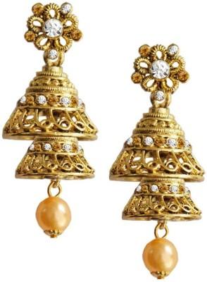 Being Women Deepika Padukone Inspired Floral Design Alloy Jhumki Earring at flipkart