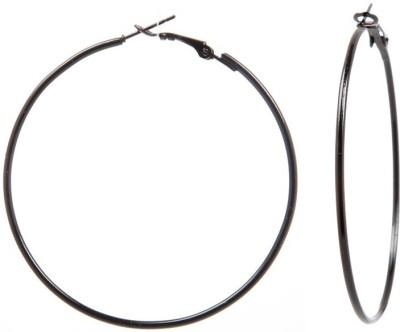Tsquare Back in Black Medium Size Alloy Hoop Earring Tsquare Earrings