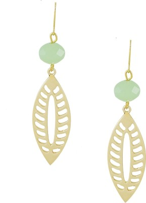 Savvy Floral Brass Drop Earring at flipkart