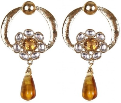 Rajwada Arts Modern Stylish Citrine Brass Drops & Danglers at flipkart