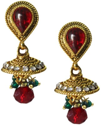 Being Women Elegant Gold-Plated With Kundan Studded Fashion Alloy Jhumki Earring  available at flipkart for Rs.1850