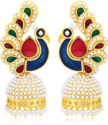 Angel In You Diva Style Zircon Copper Jhumki Earring Angel In You Earrings