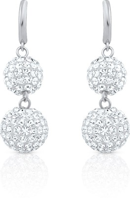 Oviya Scintillating Glamor Crystal Alloy, Brass Dangle Earring at flipkart