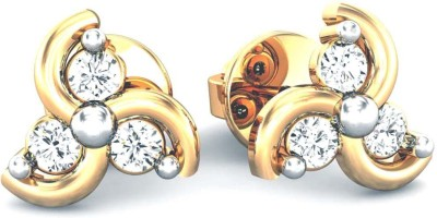 Samaira Gem and Jewelery Spring Sparkle Yellow Gold 14kt Swarovski Crystal Stud Earring Samaira Gem and Jewelery Earrings