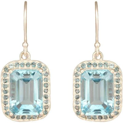 Mirror White Blue Topaz Drops Sterling Silver Drops & Danglers at flipkart
