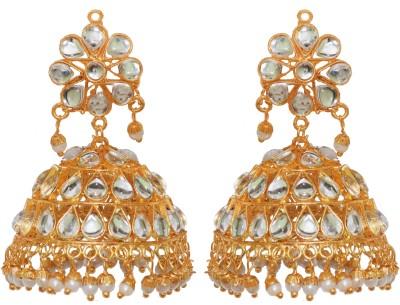 Jewels Gold Beads Alloy Jhumki Earring at flipkart